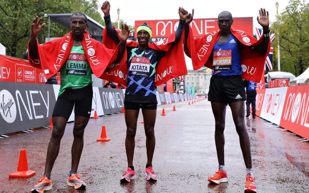 Ethiopian Shura Kitata wins London Marathon Vincent Kipchumba and Sisay Lemma